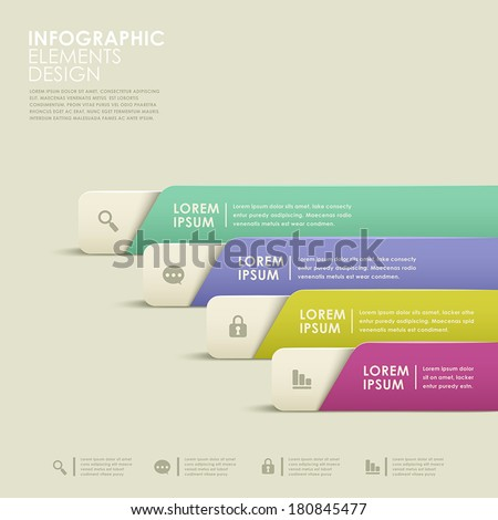 modern vector abstract colorful banner infographic elements - stock vector