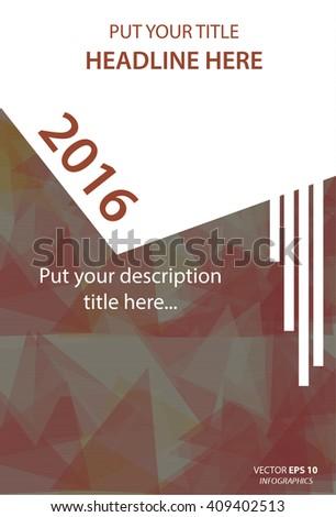 Modern Vector abstract design template for book - stock vector