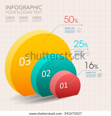 modern vector abstract pie chart infographic elements.can be used for workflow layout, diagram, number options, web design.  illustration ,EPS10 - stock vector