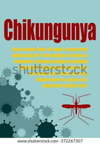 Modern vector brochure, report or flyer design template. Medical industry, biotechnology and biochemistry. Scientific medical designs.  Mosquito transmission diseases relative. Chikungunya  virus - stock vector