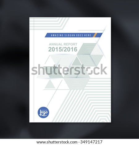 Modern Vector design template with Abstract hexagon cube pattern background design for corporate business annual report book cover brochure flyer poster,vector illustration - stock vector