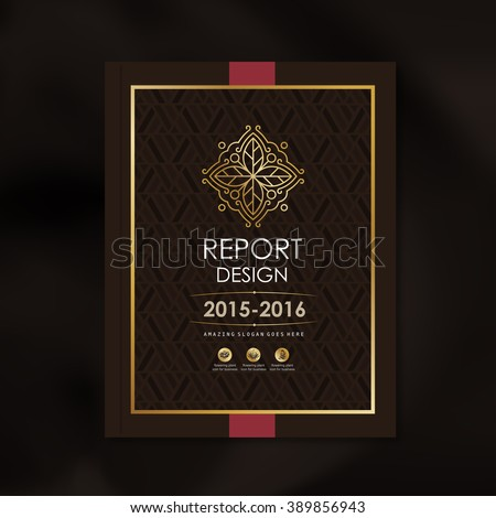 Modern Vector design template with luxury golden shape pattern background design for corporate business annual report book cover brochure poster,vector illustration - stock vector