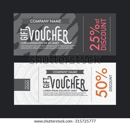 modern vector gift voucher template. - stock vector