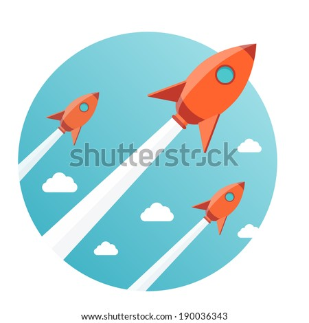 modern vector illustration concept for new business project startup, launching new product or service - stock vector