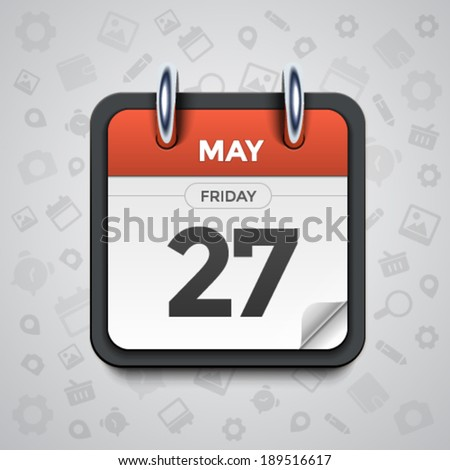 Modern vector illustration of beautiful calendar icon - stock vector