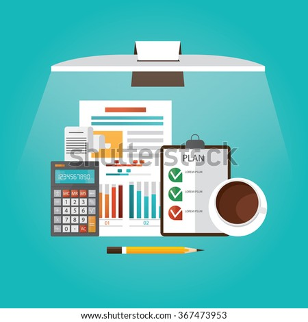 Modern vector illustration of new concept idea, business planing  - stock vector