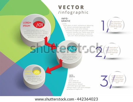 MODERN VECTOR INFOGRAPHIC DESIGN , CORPORATE COLORS - stock vector