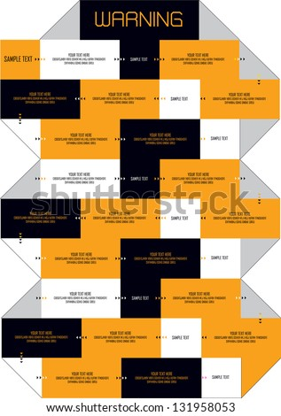 modern vector layout design with symmetrical shapes and place for text - stock vector