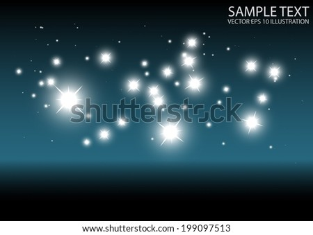 Modern vector sparkling template background - Abstract space sparks and glitters vector background illustration - stock vector