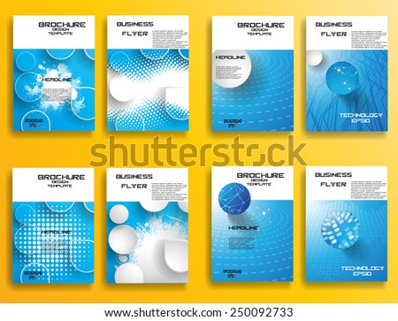 Modern Vector Technology Brochure , Cover, Flyer, Report , or Leaflet Design Template . Abstract Background . Modern Brochure . Layout Magazine . Futuristic Background . Technology Background .  - stock vector