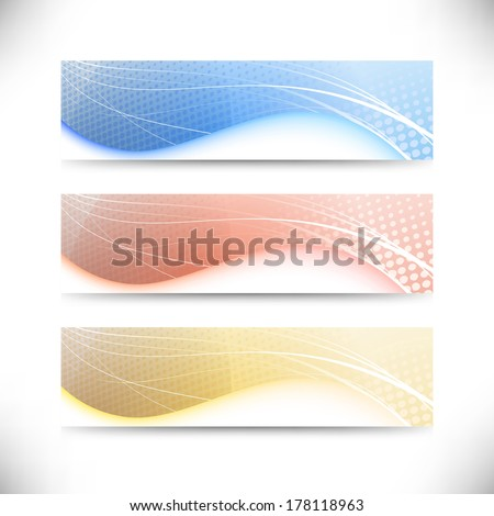 Modern web banner templates collection. Vector illustration - stock vector