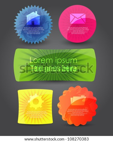 modern web banners/badges - stock vector