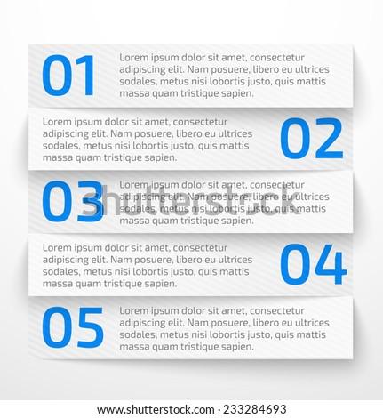 Modern white infographic business options banner. Vector illustration - stock vector