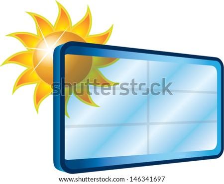 modern window with shiny sun - stock vector