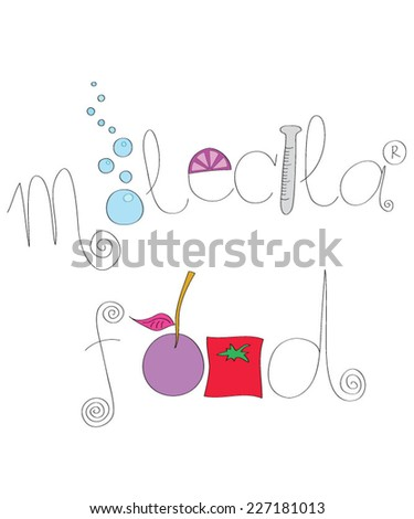 Molecular food concept - stock vector