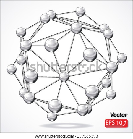 molecular structure, isolated on white background vector - stock vector