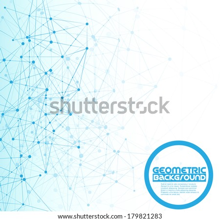Molecule Abstract Background - stock vector