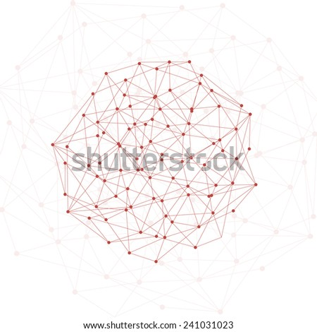 Molecule And Communication Background red - stock vector