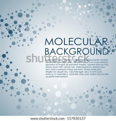 Molecule and Communication Background. Vector illustration. - stock vector