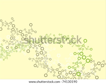 Molecule background - stock vector