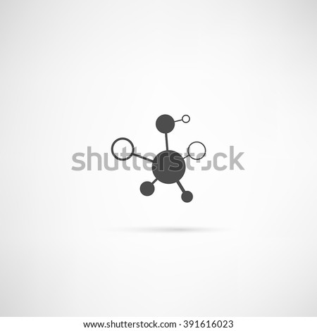 Molecule Icon in simple outline design. EPS10 vector. - stock vector
