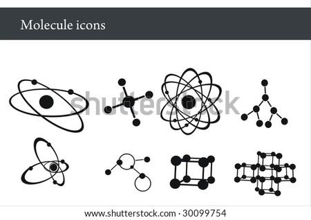 Molecule icons - stock vector