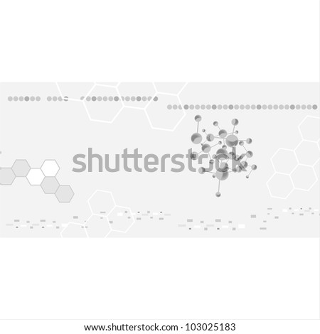 molecule illustration - stock vector