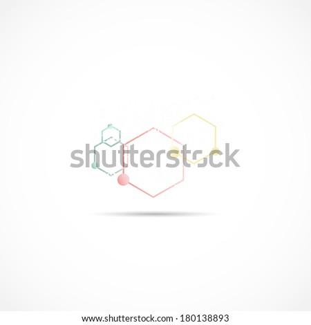 Molecule Illustration - stock vector