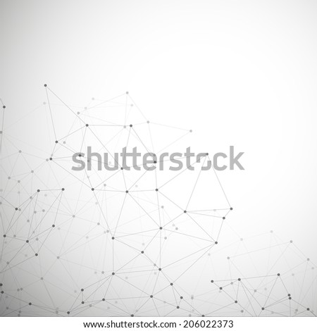 Molecule structure, gray background for communication, vector illustration  - stock vector