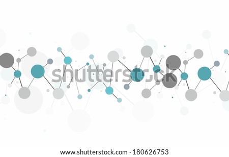 Molecule structure over the white background, vector - stock vector
