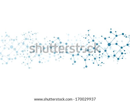 Molecule structure  vector illustration background  - stock vector