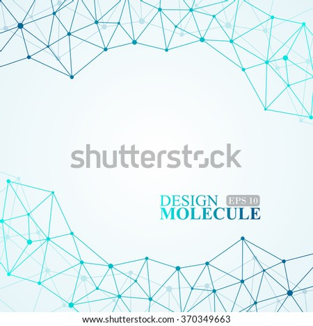 Molecule structure. Vector illustration of communication for your design. EPS 10. - stock vector