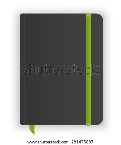Moleskin notebook vector image - stock vector