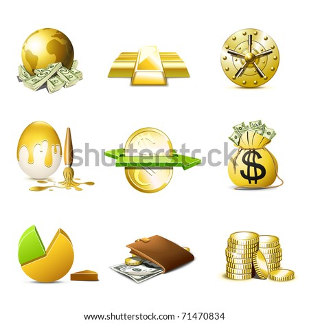 Money and finance icons | Bella series - stock vector