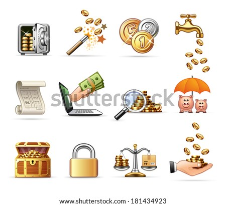 Money and Finance  | Professional icon set - stock vector