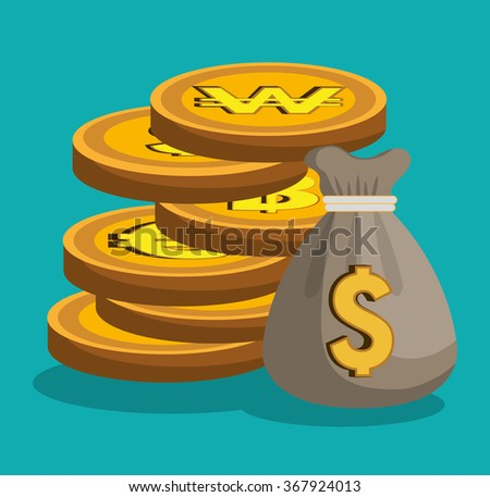 Money and global economy  - stock vector
