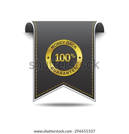 Money Back golden Vector Icon Design - stock vector
