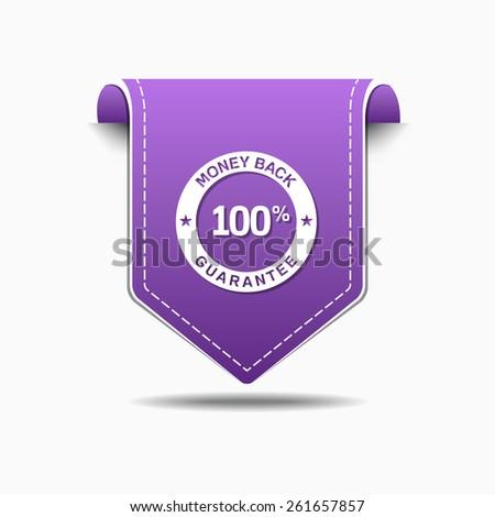 Money Back Purple Vector Icon Design - stock vector