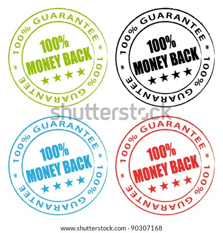 Money back stamps. Vector stamps set. - stock vector