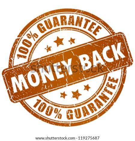 Money back vector stamp - stock vector
