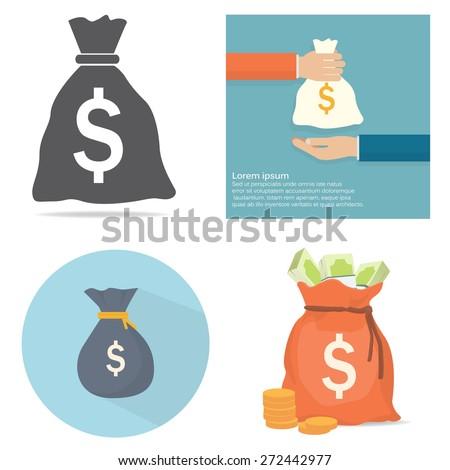 Money bag - stock vector