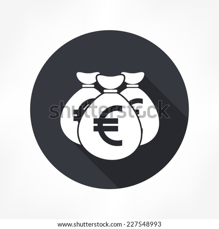 money bag euro icon - stock vector