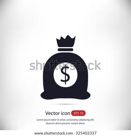 money bag icon - stock vector