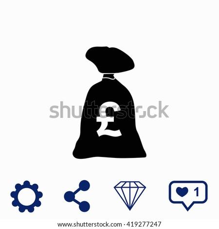 Money bag icon. Money bag icon vector. Money bag icon illustration. Money bag icon web. Money bag icon Eps10. Money bag icon image. Money bag icon logo. Money bag icon sign. Money bag icon art. - stock vector