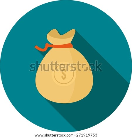 Money, bag, sack, cash icon vector image. Can also be used for banking, finance, business. Suitable for web apps, mobile apps and print media. - stock vector