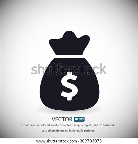 Money bag . vector icon 10 EPS - stock vector