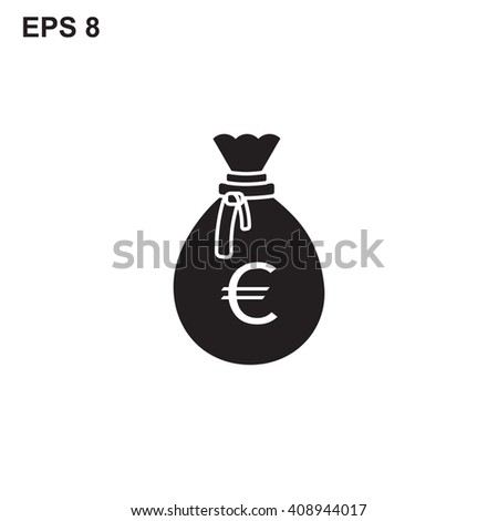Money bag vector icon isolated on white background. Money bag symbol. Money bag web. Money bag button. Money bag eps. Money bag cash. Money bag sign. Money bag black. Money bag euro. Money bag eps - stock vector