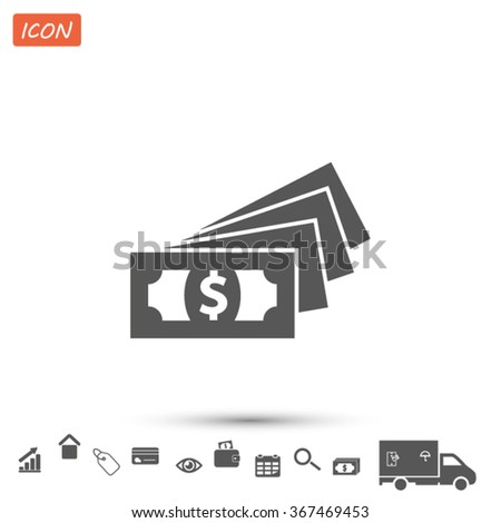 money  cash .VECTOR ICON 10 eps - stock vector