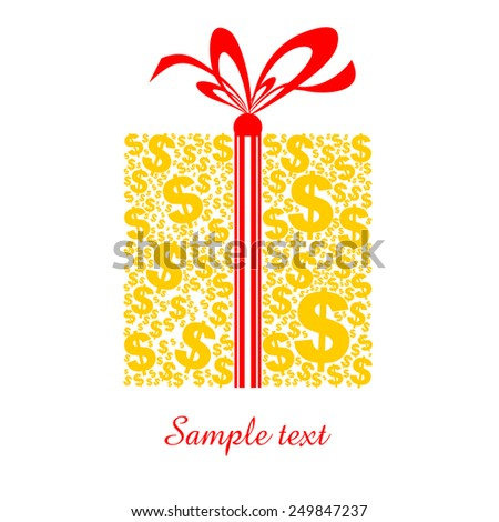 Money. Celebration background with gift boxes and place for your text. vector illustration  - stock vector