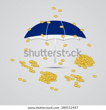 money coins vector - stock vector